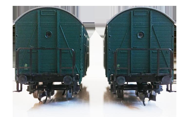 Čelný pohľad na Zadný pohľad na osobák Biz ČSD TT