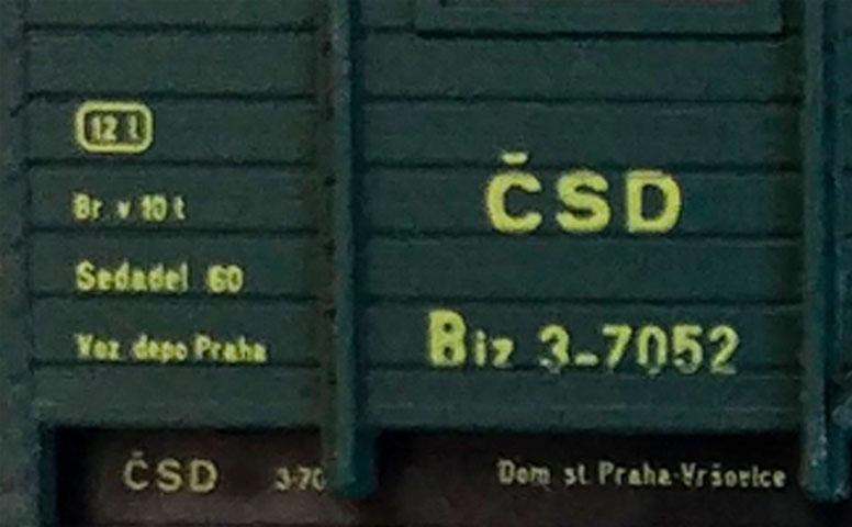 Detailný pohľad na osobák Biz ČSD TT