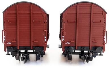 Predný pohľad na set náklaďákov Gbk ČSD TT | Kolmar
